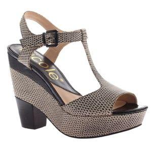 CLEARANCE   Nicole Leather Platform Sandals